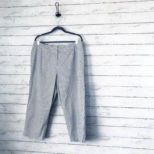 Talbots Black & White Cropped Pants - Size 16w